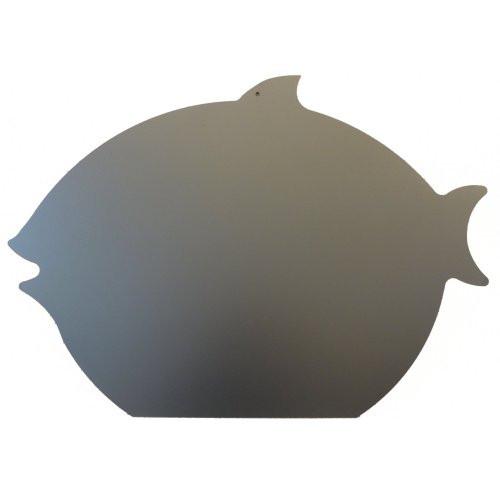 Kreidetafel schwarz, Fischform